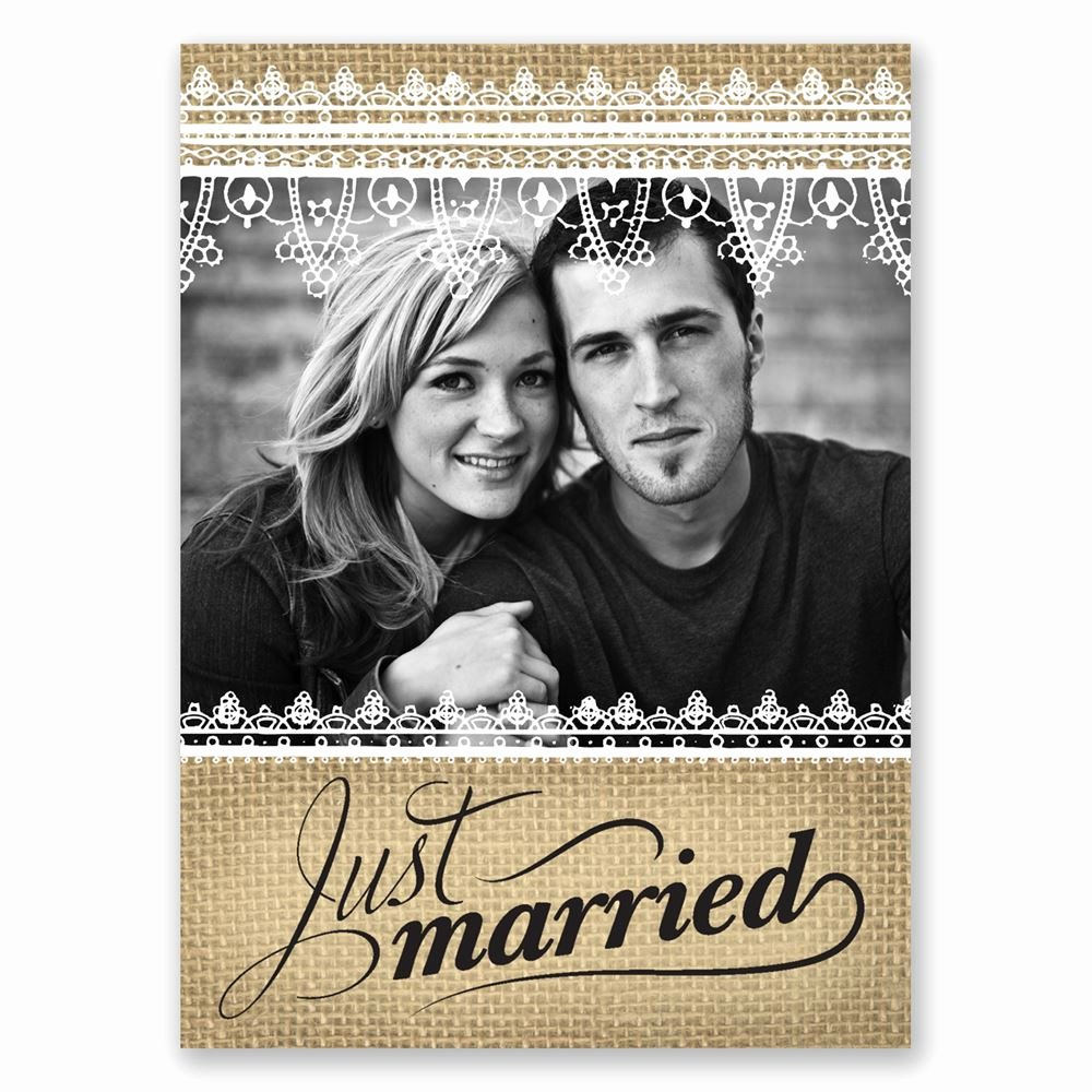 Newspaper Wedding Announcement Template Beautiful Just Married Wedding Announcement Postcard