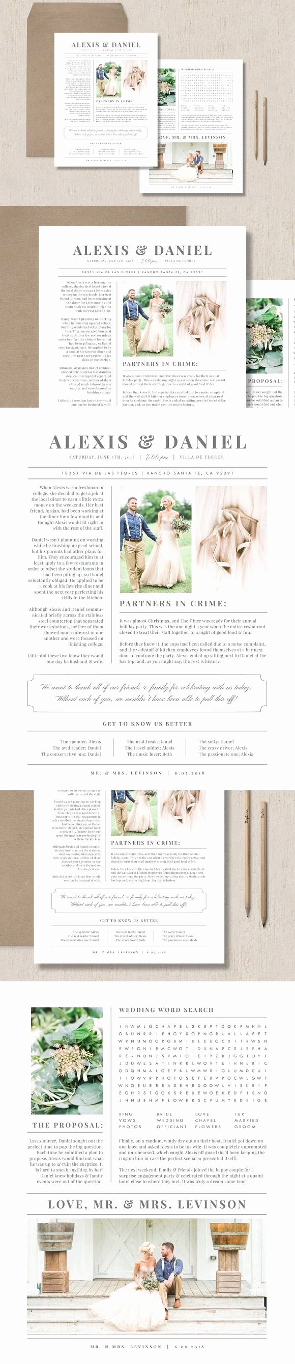 Newspaper Wedding Announcement Template Best Of 1000 Ideas About Wedding Newspaper On Pinterest