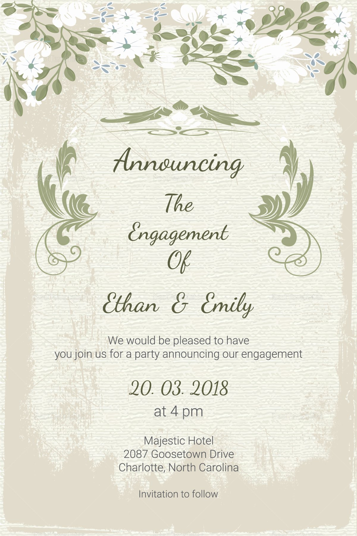 Newspaper Wedding Announcement Template Lovely Vintage Engagement Announcement Card Template In Psd Word