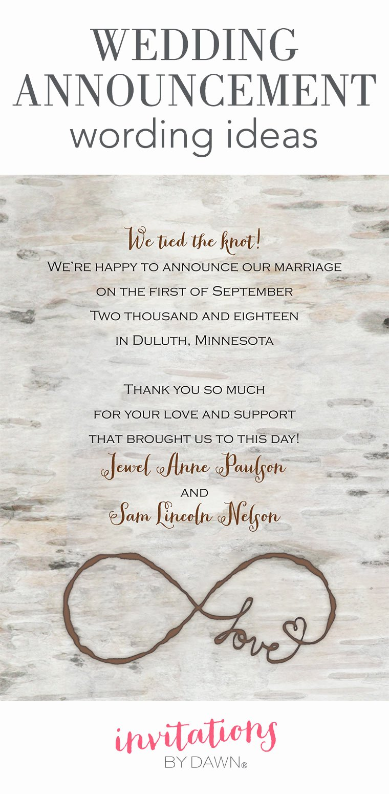 Newspaper Wedding Announcement Template New Wedding Announcement Wording