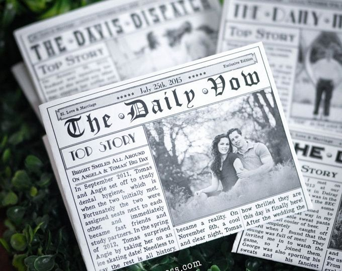 Newspaper Wedding Announcement Template Unique 35 Best Mini Newspaper Wedding Program Images On Pinterest