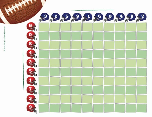 Nfl Football Pool Template Beautiful Free Printable Super Bowl Squares 100 Grid for Your Nfl Pool