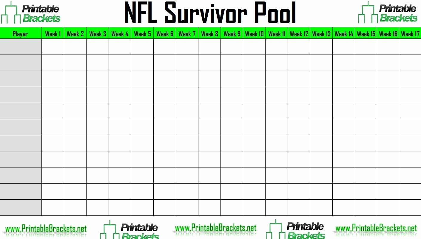 Nfl Football Pool Template Fresh Nfl Survivor Pool