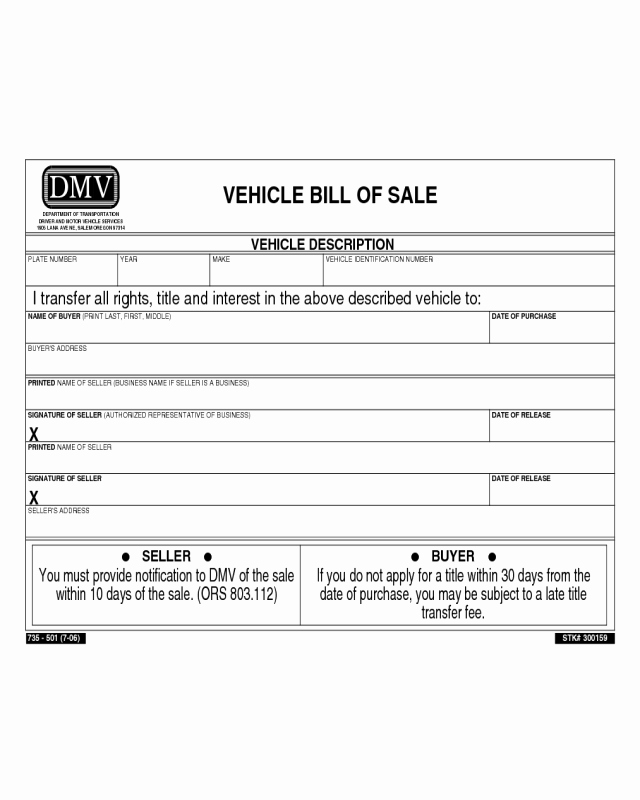 Nj Dmv Bill Of Sale Fresh 2018 Dmv Bill Of Sale form Fillable Printable Pdf