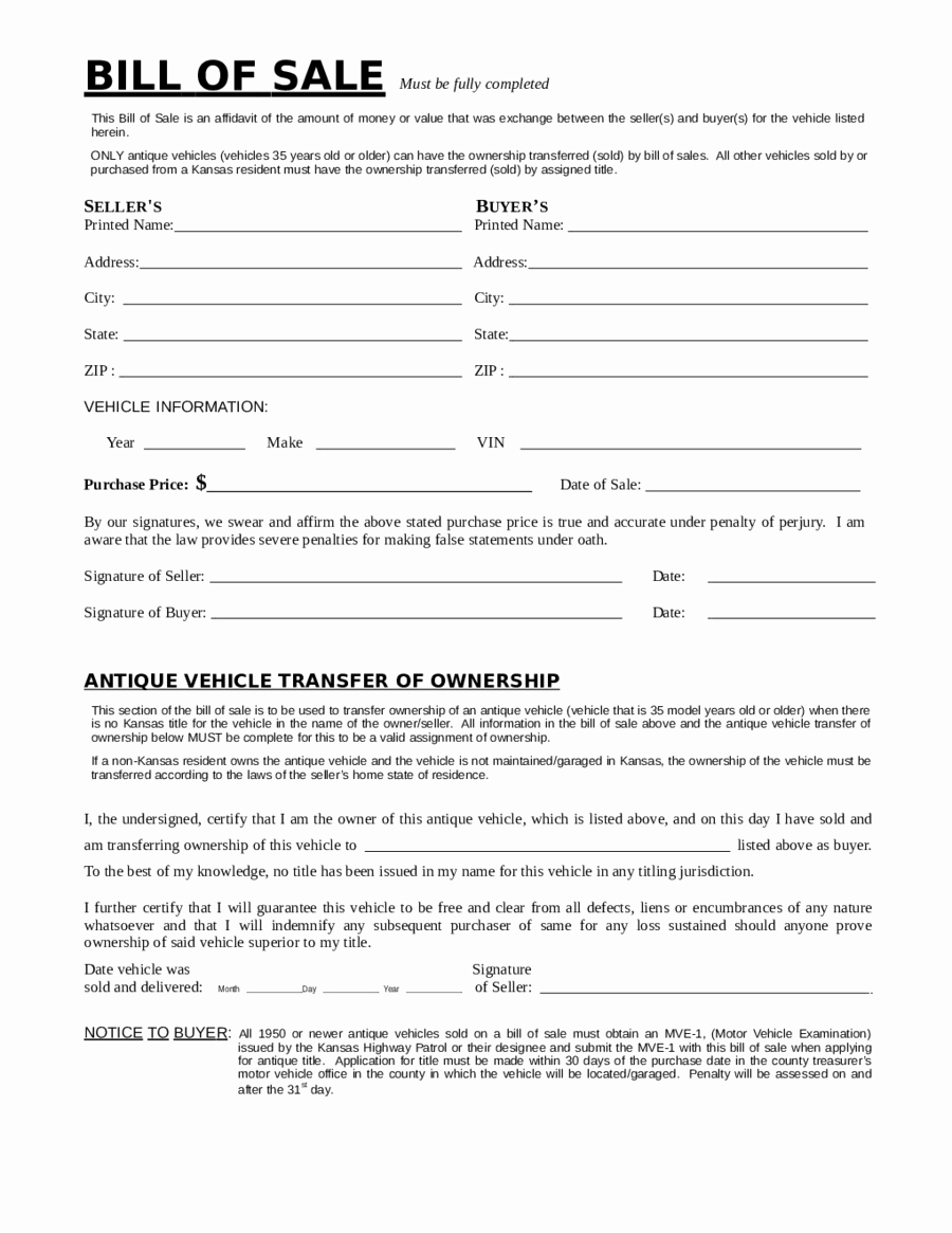 Nj Dmv Bill Of Sale Fresh 2019 Dmv Bill Of Sale form Fillable Printable Pdf