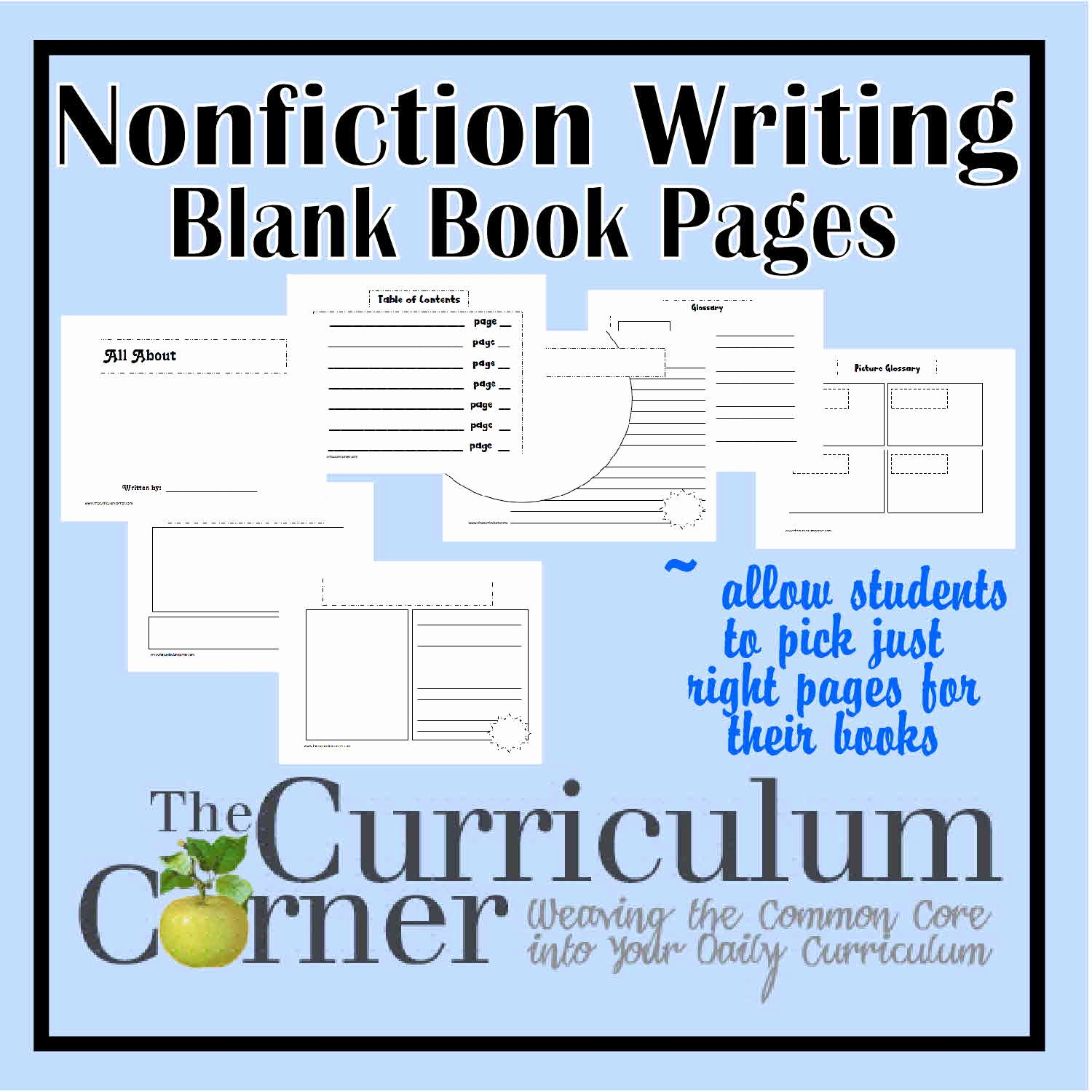 Non Fiction Book Outline Inspirational Nonfiction Writing Blank Book Pages the Curriculum