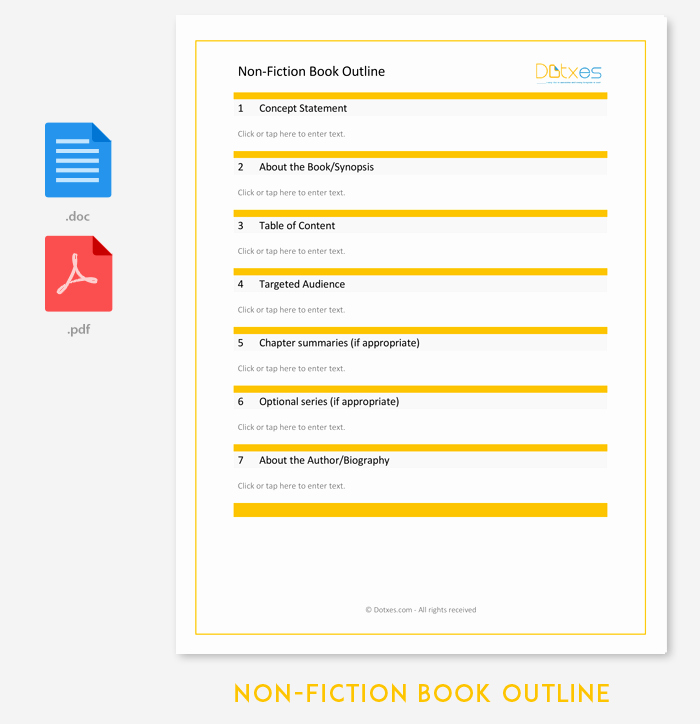 Non Fiction Book Outline Luxury Non Fiction Book Outline Template 5 for Word Pdf