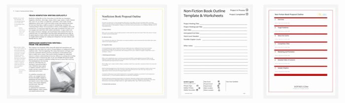 Non Fiction Book Outline New Non Fiction Book Outline Template 5 for Word Pdf