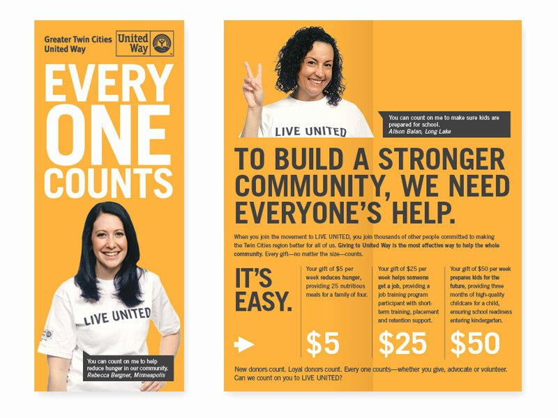 Non Profit Brochure Example Awesome United Way orange Non Profit Brochure Idea Venngage