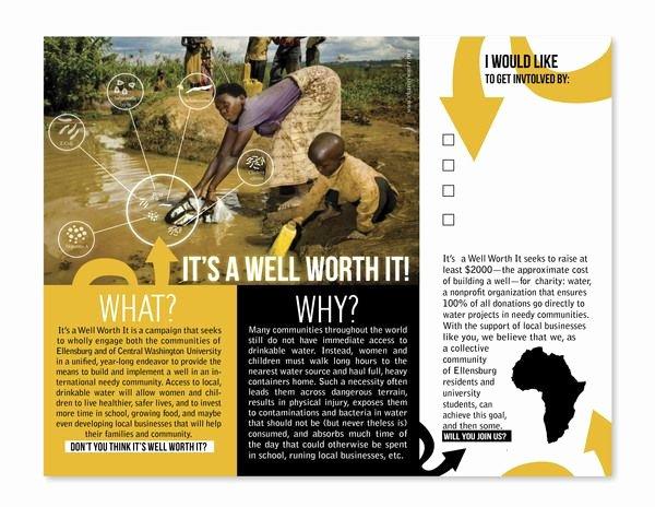 Non Profit Brochure Example Best Of Charity Water Brochure Fundraising Brochure