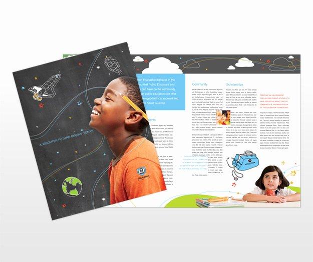 Non Profit Brochure Example Lovely Education organization & Foundations Brochure Templates
