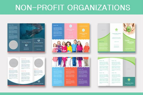 Non Profit Brochure Example Lovely Standard Brochure Printing Sizes