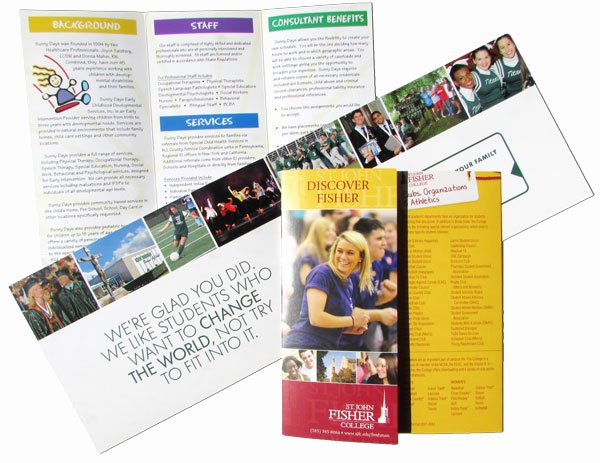 Non Profit Brochure Example New Nonprofit Brochures Printing for Schools and Universities