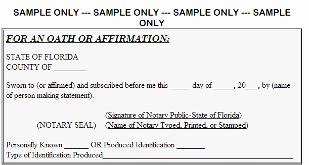 Notary Public Document Sample Awesome Be E A Florida Notary Fast Easy & Inexpensive