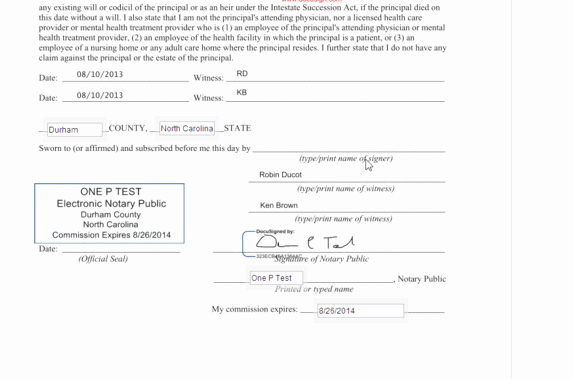 Notary Public Document Sample Awesome Docusign Launches Electronic Notary Service