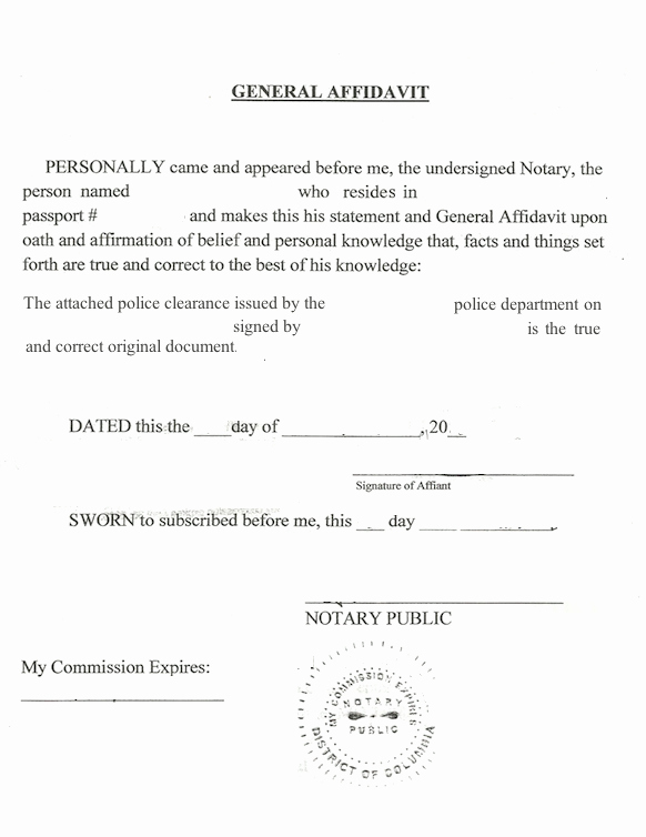 Notary Public Document Sample Awesome How to Notarize A State City or County U S Police