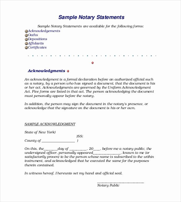 Notary Public Document Sample Awesome Sample Notary Letter