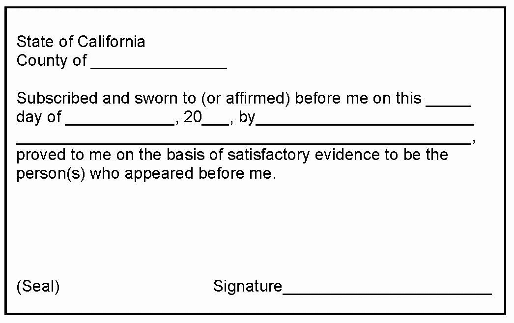 Notary Public Document Sample Best Of 24notary Mobile Notary San Jose Milpitas