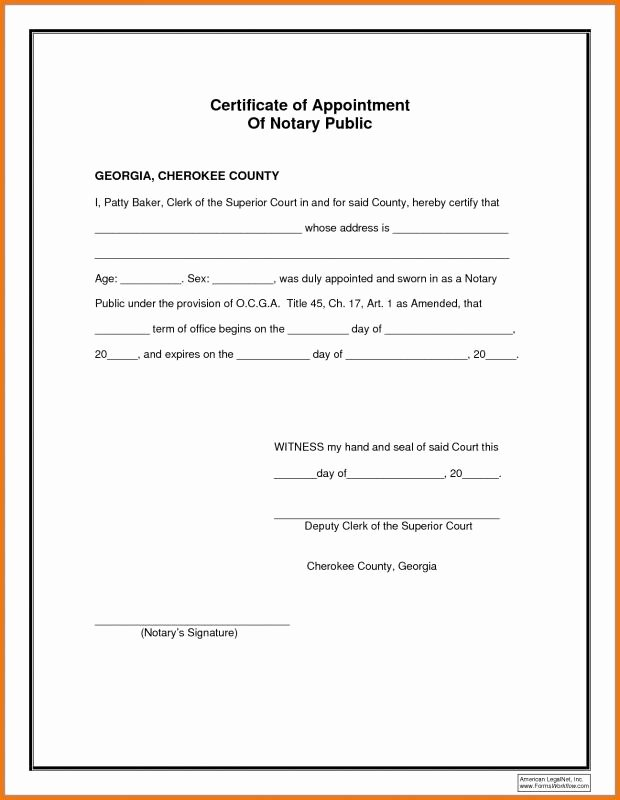 Notary Public Document Sample Elegant Notary Document Sample