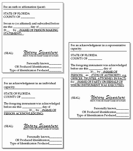 Notary Public Document Sample Fresh 12 Best S Of Jurat form 2012 Florida Notary