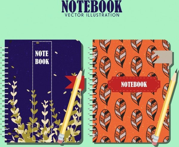 Notebook Cover Design Template Fresh Notebook Cover Templates Leaves theme Classical Design