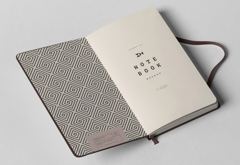 Notebook Cover Design Template Luxury 30 Elegant Notebook Mockup Design Templates
