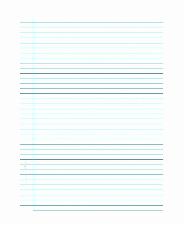 Notebook Template for Word Beautiful 8 Sample Notebook Papers Pdf Word