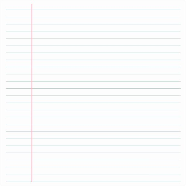 Notebook Template for Word Beautiful Notebook Paper 9 Download Documents In Pdf