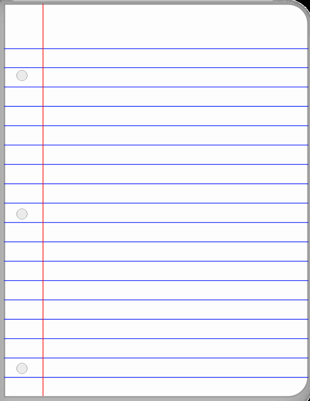 Notebook Template for Word Fresh Notebook Paper Template Clipart Best
