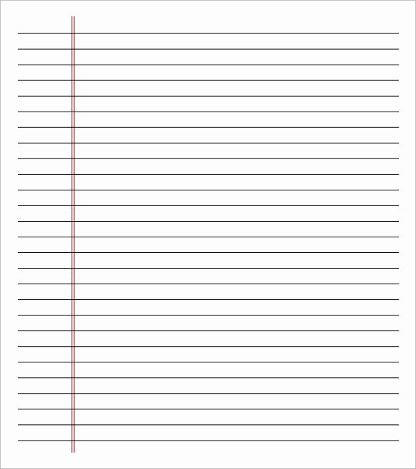 Notebook Template for Word Lovely Notebook Paper Template