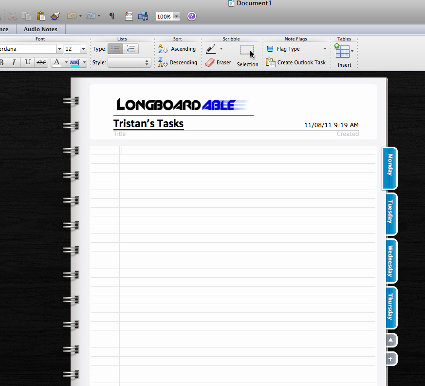 Notebook Template for Word Luxury 301 Moved Permanently