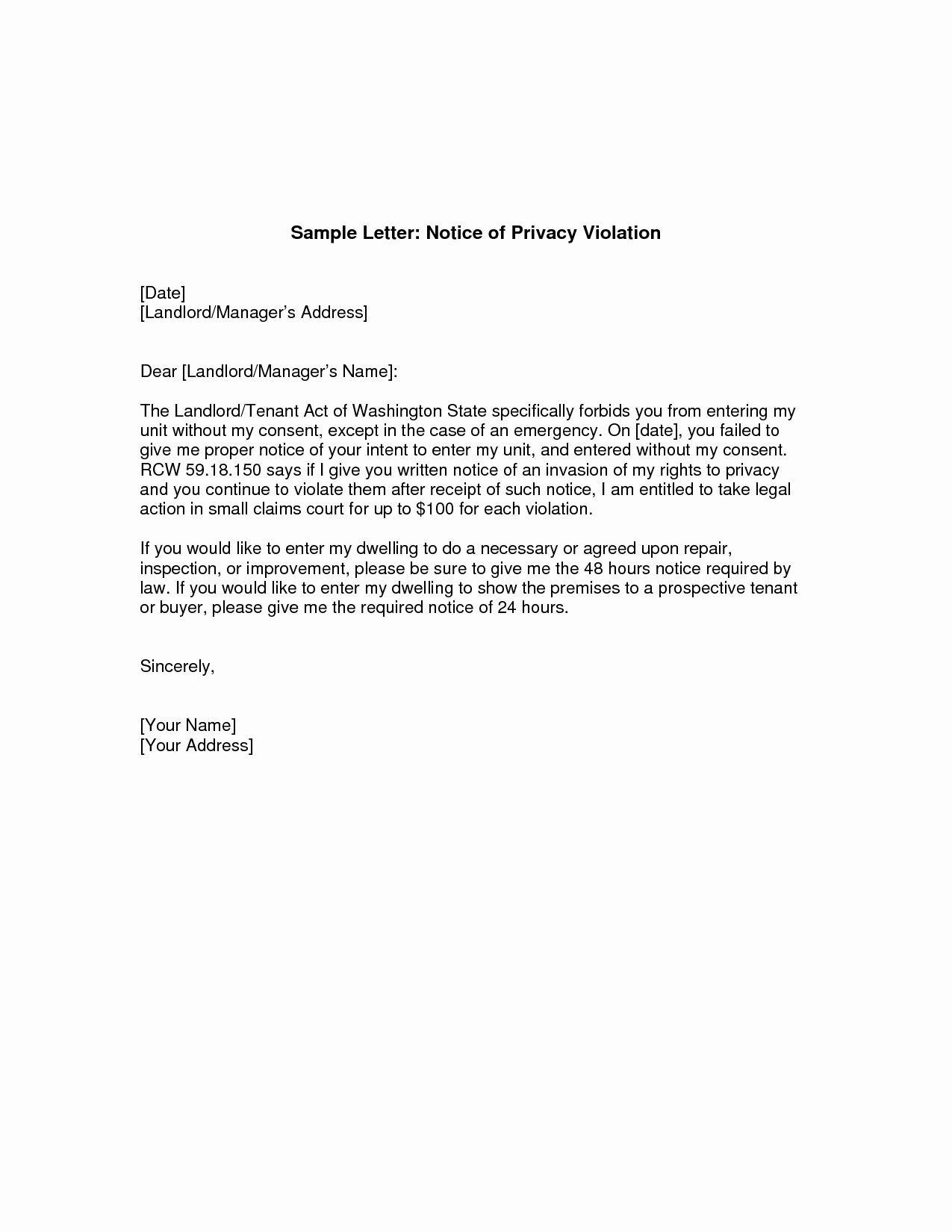 Notice Letter to Landlord Beautiful Giving Notice to Landlord Letter Tenant Notice to End