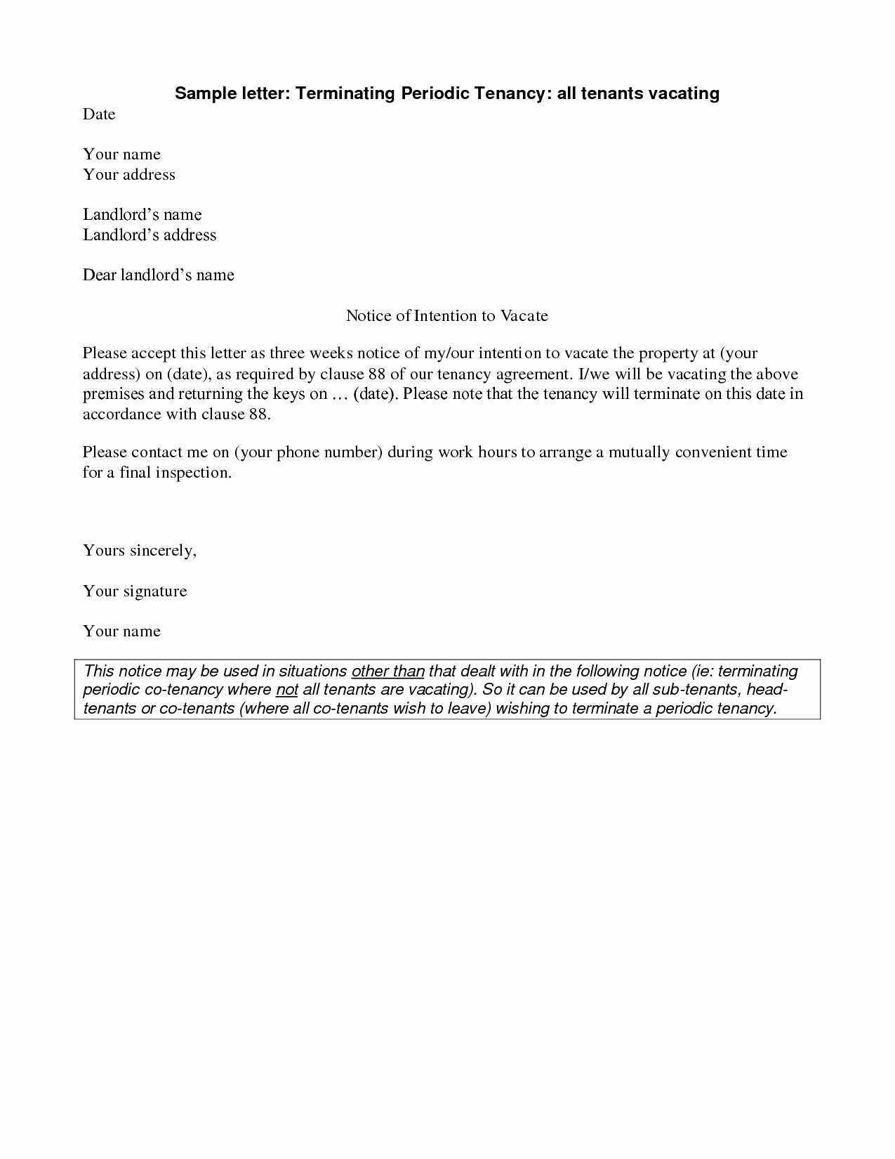 Notice Letter to Landlord Inspirational Best S Of Template Keys assigned to Tenant