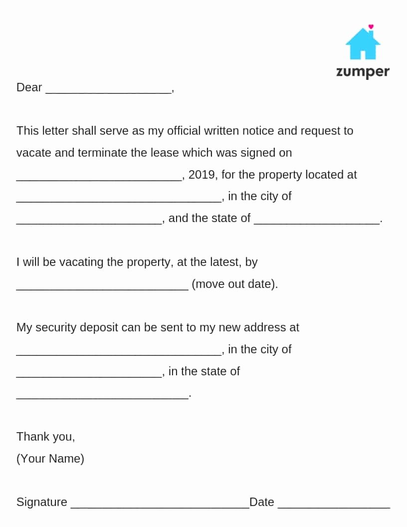 Notice to Landlord to Vacate Elegant How to Give Written Notice to Your Landlord Notice to