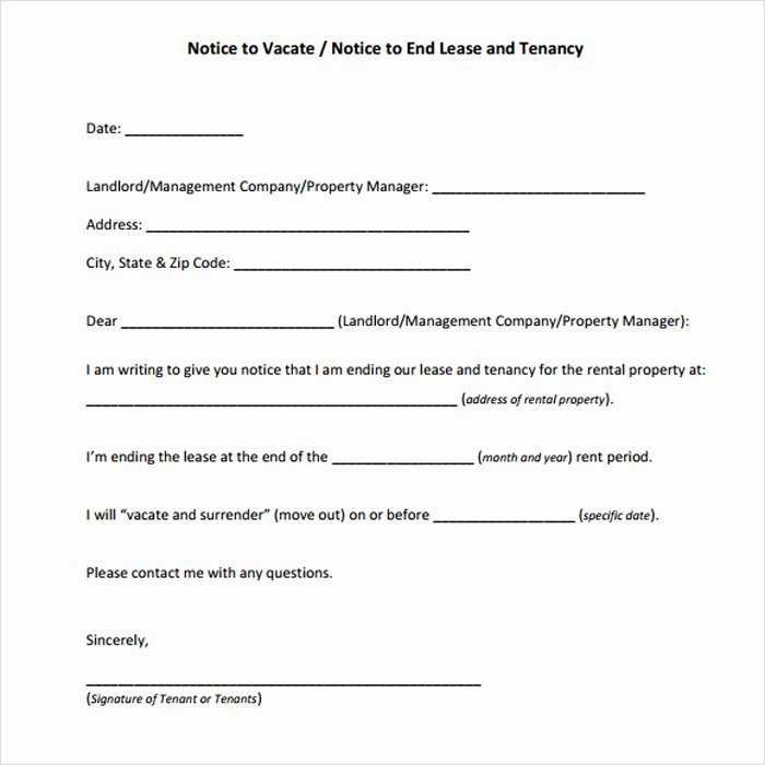 Notice to Vacate Rental Fresh 12 Free Eviction Notice Templates for Download Designyep