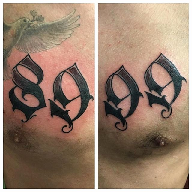 Number Fonts for Tattoos Beautiful 58 Incredible Number Tattoos Ideas