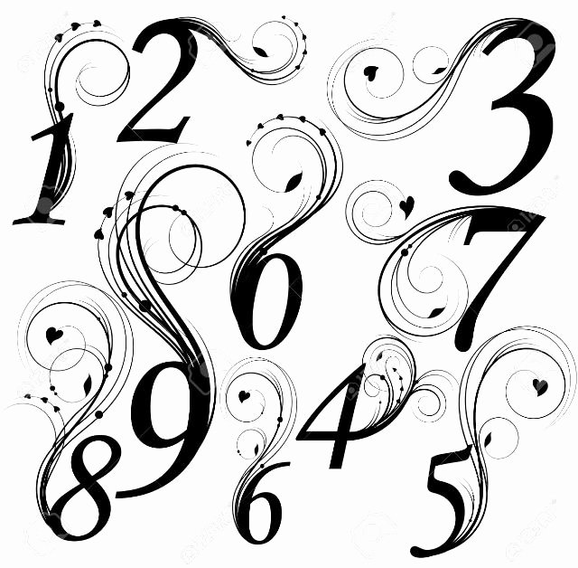 Number Fonts for Tattoos Beautiful Best 25 Number Tattoo Fonts Ideas On Pinterest