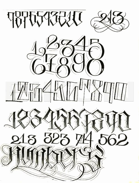 Number Fonts for Tattoos Lovely top Big Sleeps Lettering Alphabet for Pinterest