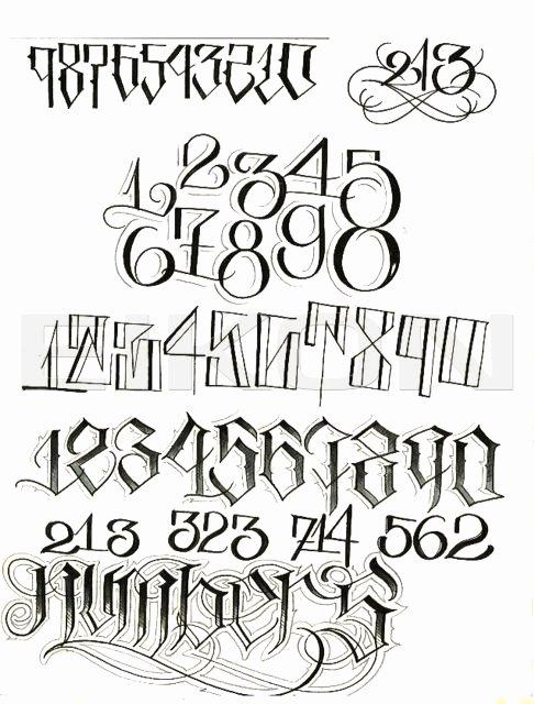Number Fonts for Tattoos Lovely top Big Sleeps Lettering Alphabet for Pinterest