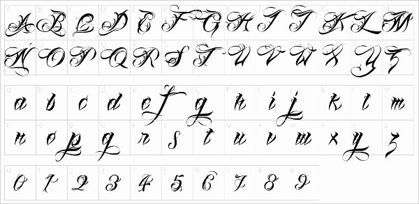 Number Fonts for Tattoos Luxury 17 Stylish Tattoo Fonts Free Otf Ttf format Download