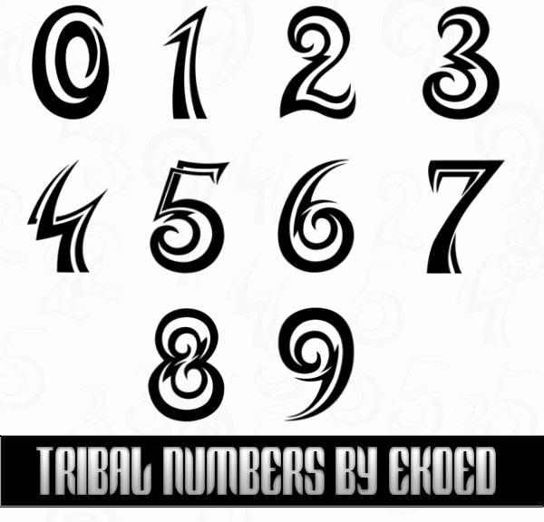 Number Fonts for Tattoos New Amazing Tattoo Shop Brushes Tattoo
