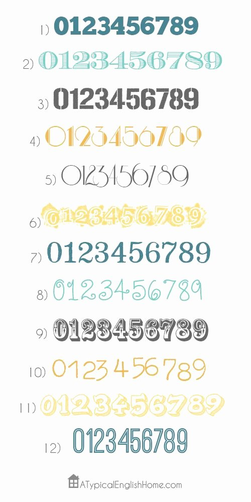 Number Fonts for Tattoos New Best 25 Number Tattoo Fonts Ideas On Pinterest