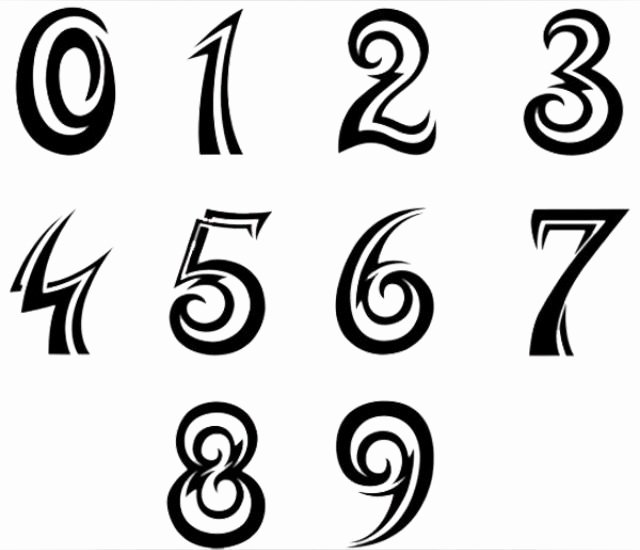 Number Fonts for Tattoos Unique 21 Best Numbers Images On Pinterest