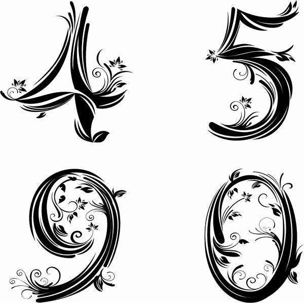 Number Fonts for Tattoos Unique Best 25 Number Tattoo Fonts Ideas On Pinterest