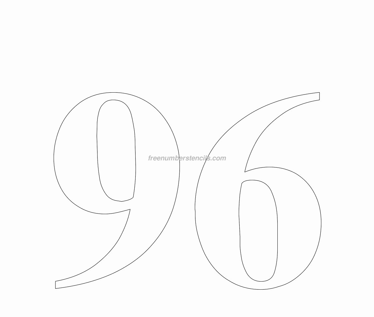 Number Templates to Cut Out Awesome Huge Number Stencils Archives Page 3 Of 6