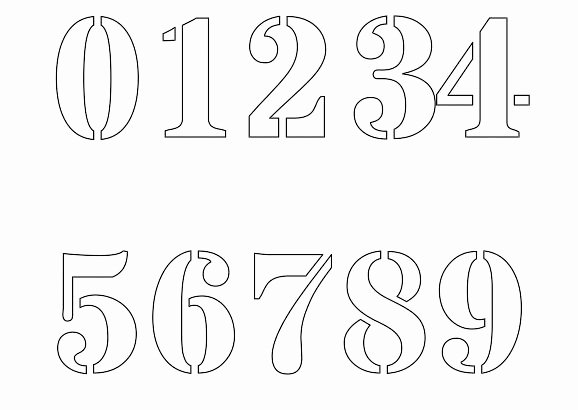 Number Templates to Cut Out Beautiful Free Printable Number Stencils for Painting
