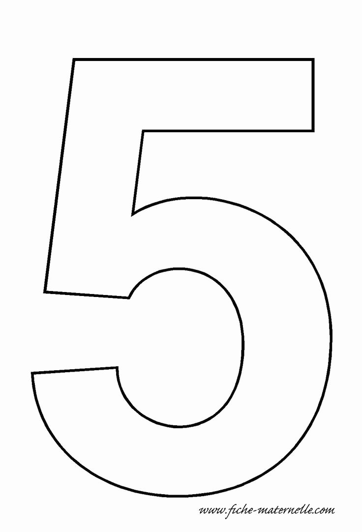 Number Templates to Cut Out Beautiful Number 5 Template Classroom