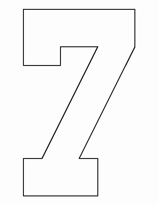 Number Templates to Cut Out Best Of Number 7 Pattern Use the Printable Outline for Crafts