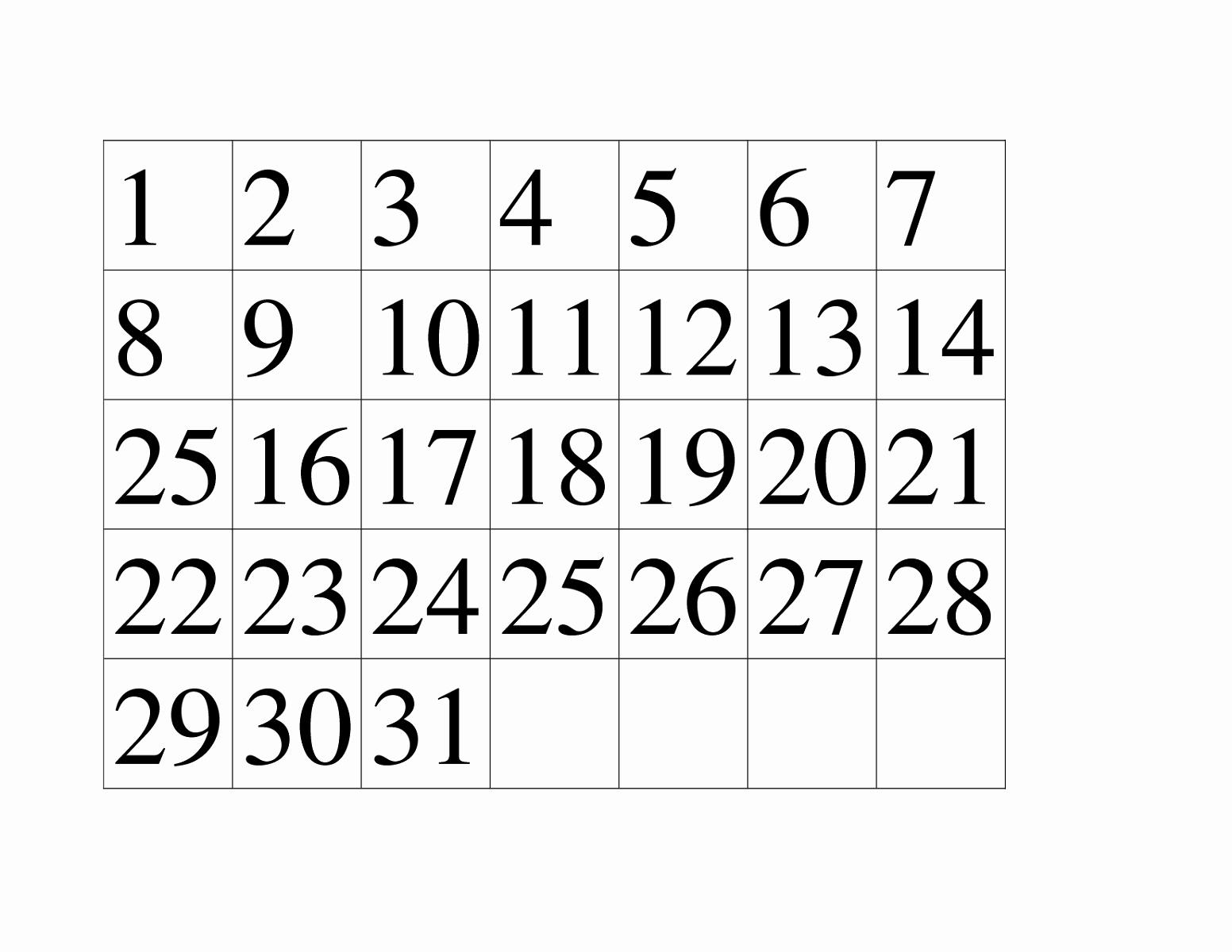Number Templates to Cut Out Elegant Printable Number 1 30 Worksheets