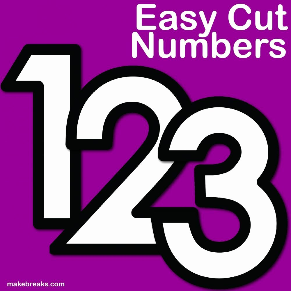 Number Templates to Cut Out Lovely Free Printable Letters Numbers Archives Make Breaks